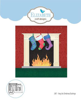 "Stanzschablone ""Hang the Christmas Stockings"" - Elizabeth Craft Designs"