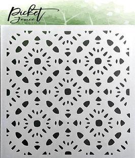 "Schablone ""Patterns Of Flowers"" - Picket Fence Studios"