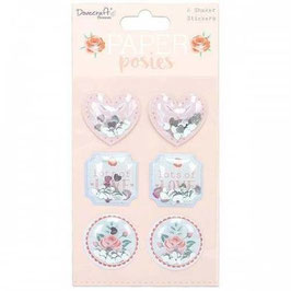 Posies Shaker Stickers - Dovecraft