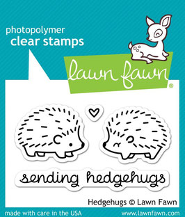 "Clearstamp ""Hedgehugs"" - Lawn Fawn"