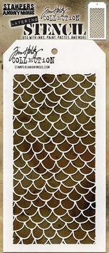 """Layered Stencil """"Scales"""" - Tim Holtz"""