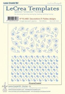 "Schablone ""Paisley Designs"" - LeCrea"