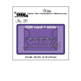 "Stanzschablone ""Gift Card & Slots"" - Crealies"