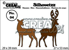 "Silhouette #4 ""Rentier"" - Crealies"