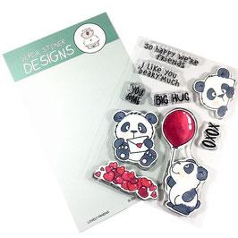 """Clearstampset """"Lovely Pandas"""" - Gerda Steiner Designs"""