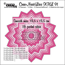 "Crea-Nest-Lies XXL #91 - Smooth 16 Point Star"" - Crealies"
