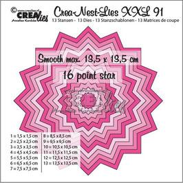 "Crea-Nest-Lies XXL #91 - Smooth 16 Point Star"" - Crealies"