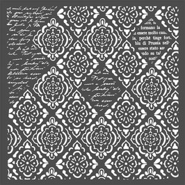 Rhombus and Writings, Schablone - Stamperia