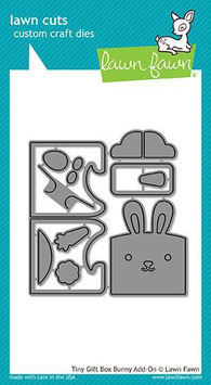 Tiny Gift Box Bunny Add-On Dies - Lawn Fawn