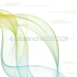 "Designpapier ""Farbwellen Grün Blau"" - Alexandra Renke"