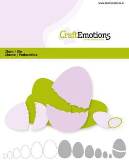 "Stanzschablone ""Edges Egg"" - CraftEmotions"
