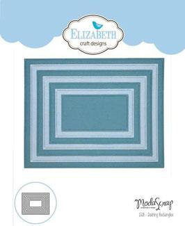 """Stanzschablone """"Dashing Rectangles"""" - Elizabeth Craft Designs"""