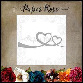 "Stanzschablone ""Heart Border"" - Paper Rose"