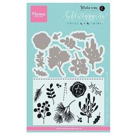 """Stempel- und Stanzenset """"Giftwrapping Twigs & Twine"""" - Marianne Design"""