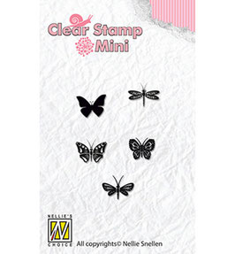 "Mini Clear Stamps ""Butterflies"" - Nellie's Choice"