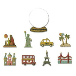 "Thinlits Die Set ""Tiny Travel Globe"" - Sizzix"