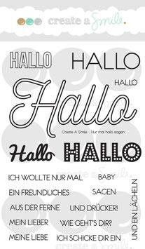 "Clearstampset ""Nur mal Hallo sagen"" - Create A Smile"