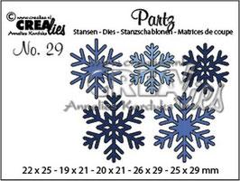 """Partz #29 """"Snowflakes"""" - Crealies"""