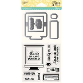 Shaker Die & Stamp Set, Computer - Jillibean Soup