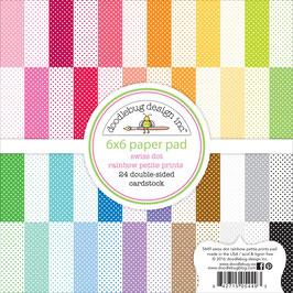 "Swiss Dot Rainbow Petite Prints Paperpad 6""x 6"" - Doodlebug"
