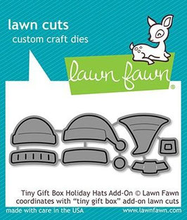 """Stanzschablone """"Gift Box Holiday Hats Add-On"""" - Lawn Fawn"""