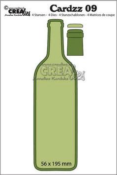 Cardzz #9 Wine Bottle - Crealies