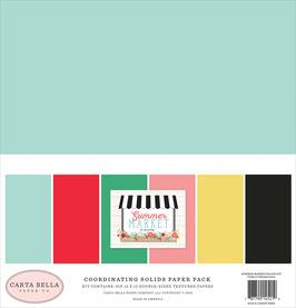 Summer Market 12x12 Coordinating Solids  - Carta Bella