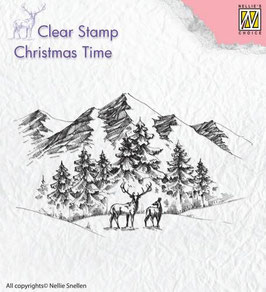 "Stempel ""Christmas Time, Winterlandschaft"" - Nellie's Choice"