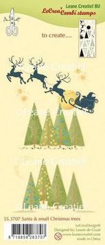 "Stempel ""Santa & Small Christmas Tree"" - LeCrea"