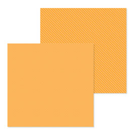 Dot-Stripe Petite Prints, Tangerine - Doodlebug