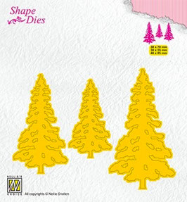 """Stanzschablone """"Pinetrees"""" - Nellie's Choice"""