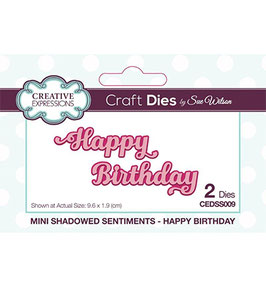"Stanzschablone ""Shadowed Happy Birthday"" - Creative Expressions"