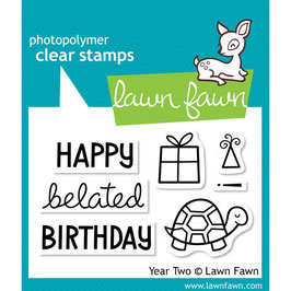 "Clearstampset ""Year Two"" - Lawn Fawn"
