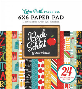 Back To School Paperpad 6x6 - Echo Park Paper