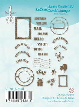 "Clearstampset ""Mail"" - LeCreaDesign"