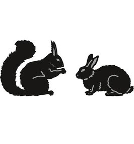 "Craftable Tiny's Animals ""Squirrel & Rabbit"" - Marianne Design"