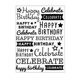 "Prägeschablone ""Happy Birthday Celebration"" - Darice"