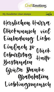 "Clearstamp ""Wörter Handlettering"" - CraftEmotions"