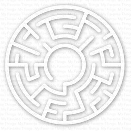 Maze Shapes, White - My Favorite Things