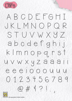 "Clearstamp ""Alphabet Lars"" - Nellie's Choice"