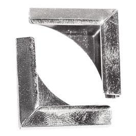 Metallecken für Bucheinbände, silber