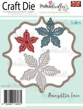 Poinsettia Lace Dies - Polkadoodles