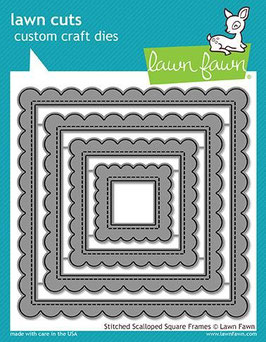 Stitched Scalloped Square Frames Dies - Lawn Fawn