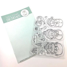 "Clearstampset ""Snowman Friends"" - Gerda Steiner Designs"