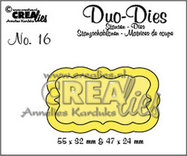 "Duo Die No. 16 ""Labels 3"" - Crealies"