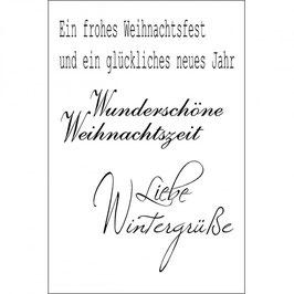 "Clearstamps ""Liebe Wintergrüße"" - EFCO"