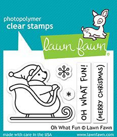 "Clearstamp-Set ""Oh What Fun"" - Lawn Fawn"
