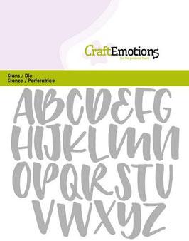 Alphabet Handlettering Großbuchstaben - CraftEmotions