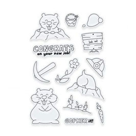 "Clearstampset ""Adorables Go For It Gopher"" - Tonic Studios"