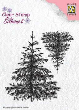 "Silhouette Clearstamps ""Christmas Fir-Tree"" - Nellie's Choice"